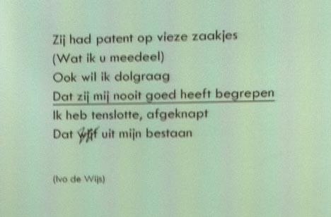 Ivo de Wijs: Zij had patent op vieze zaakjes